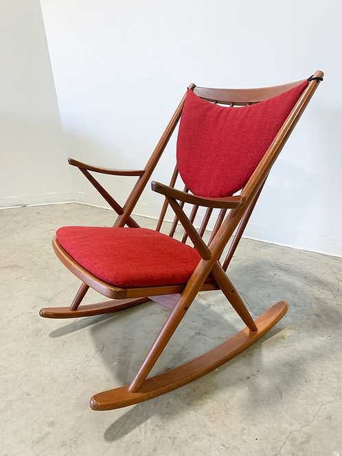 Danish Teak Rocking chair by Bramin