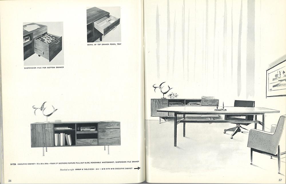 jens risom vintage office furniture