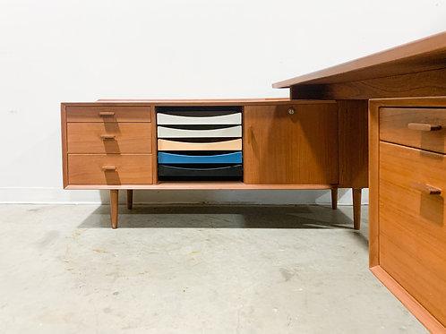 Arne Vodder Teak Desk and Credenza