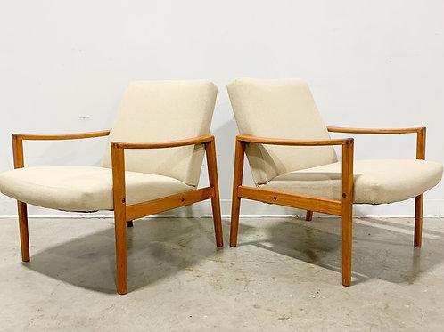 Swedish teak lounge chairs by Ulferts Fabriker