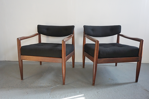 Pair of Adrian Pearsall armchairs model 834-C