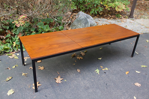 Florence Knoll T Angle coffee table with walnut top