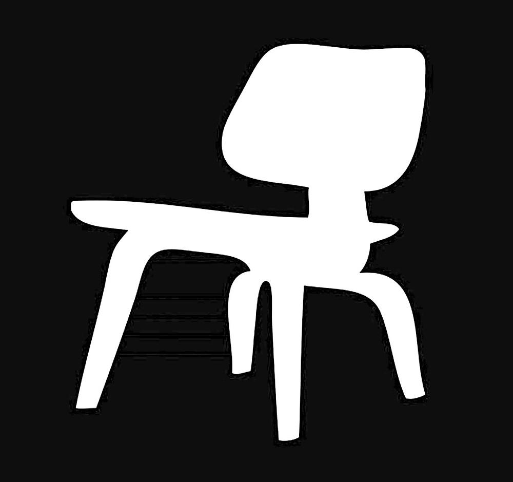 Eames chair pumpkin stencil