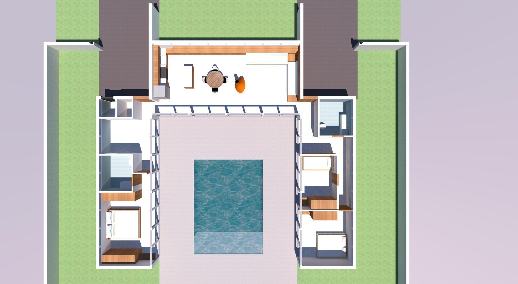 Residential floorplan rednering