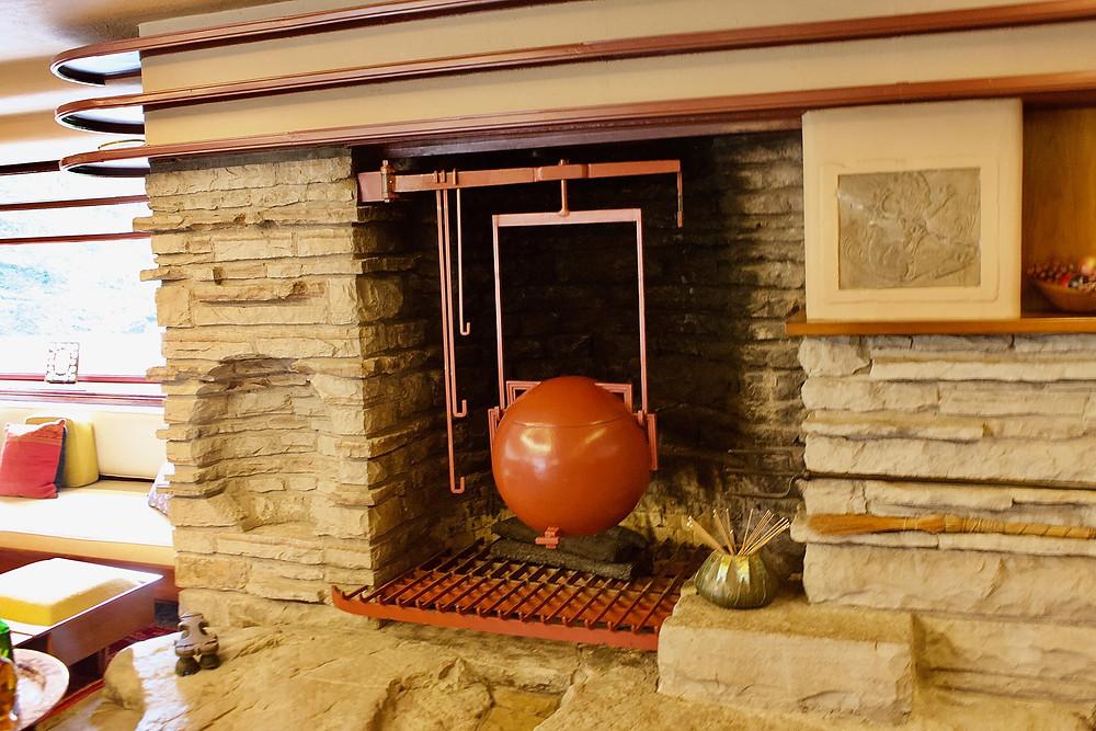 Fallingwater Frank Lloyd Wright Fireplace