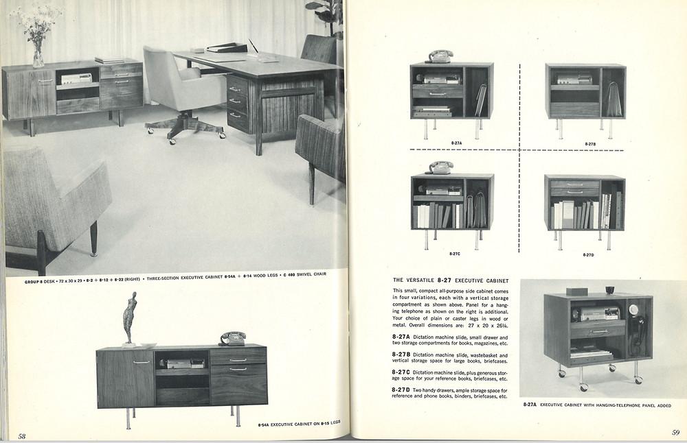 risom vintage office desk
