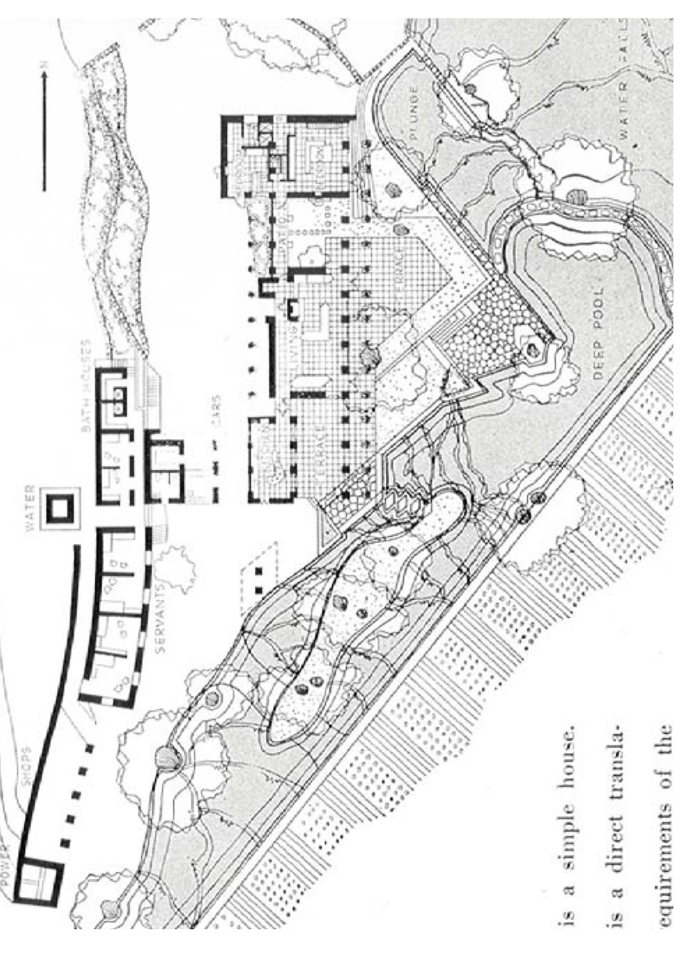 Anshen & Allen Silverstone House site plan
