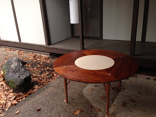 Rare Walnut Mid Century Game Table American of Martinsville