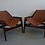 Thumbnail: Pair of mid century Jerry Johnson sling chairs