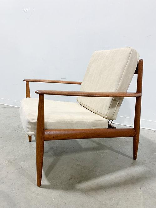 Grete Jalk Danish Modern Teak Lounge Chair