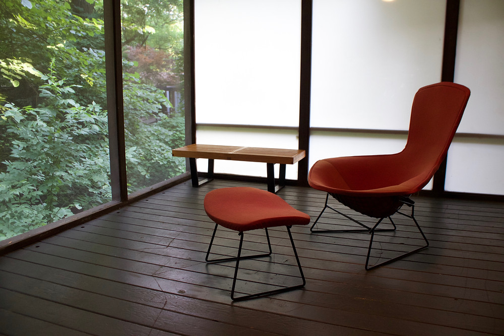 bird chair, bertoia, japanese design