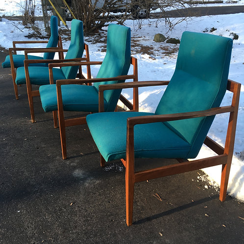 Jens Risom Group 9 Arm Chairs