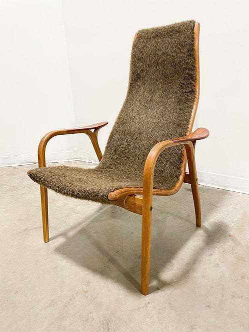 Yngve Ekstrom Lamino lounge chair in sheepskin