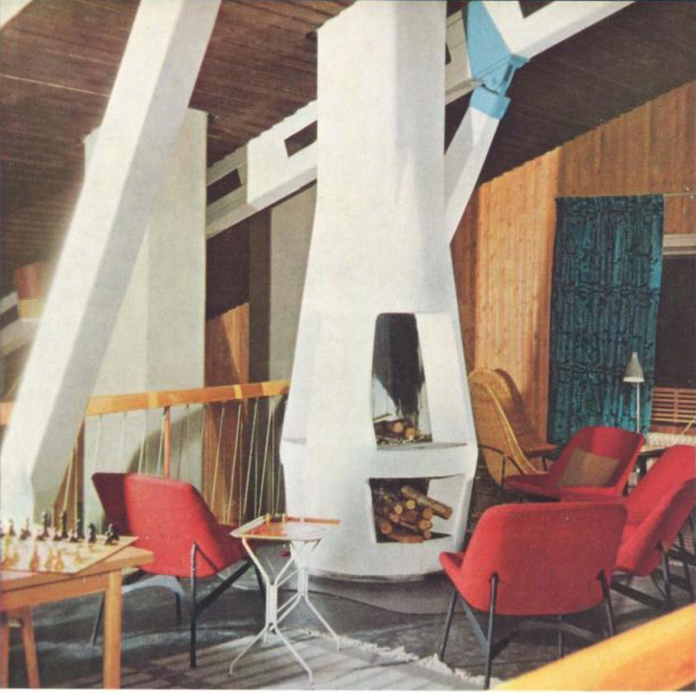 mid-century modern fireplace ideas