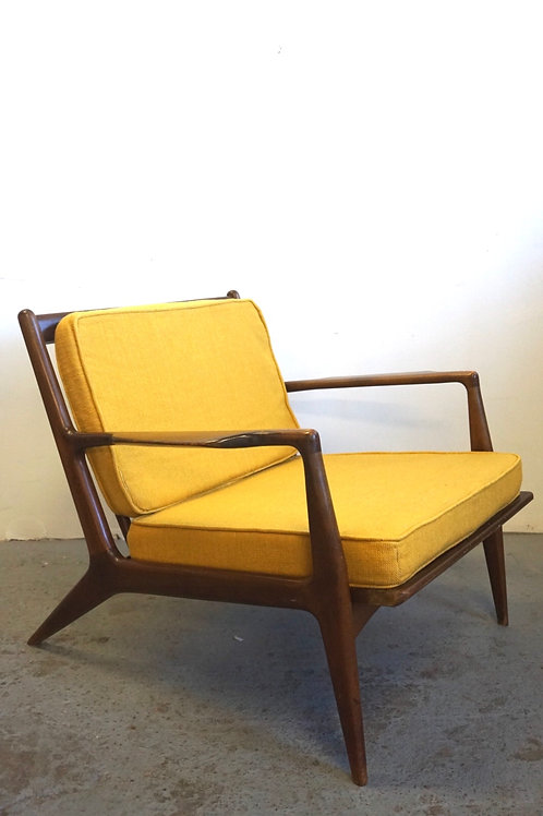 Early Kofod Larsen Paddle Arm Lounge Chair