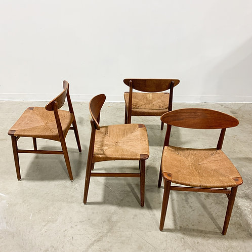 4 Danish chairs by Aksel Bender Madsen and Einar Larsen
