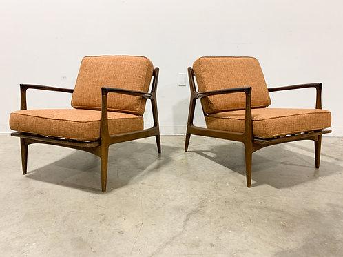 Kofod Larsen Danish Modern lounge chair pair