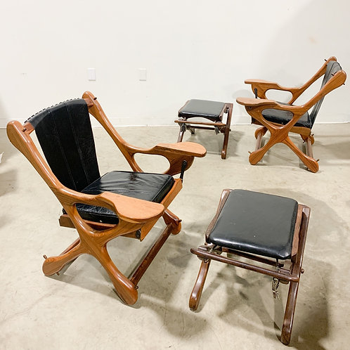 Don Shoemaker Swinger chairs and Suspension Footstools