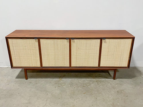 Walnut and Cane credenza by Founders