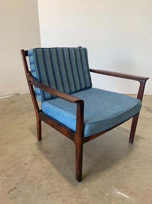 Frederik kayser style solid Rosewood lounge chair