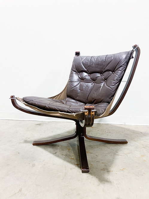 Leather Falcon Chair by Sigurd Ressell