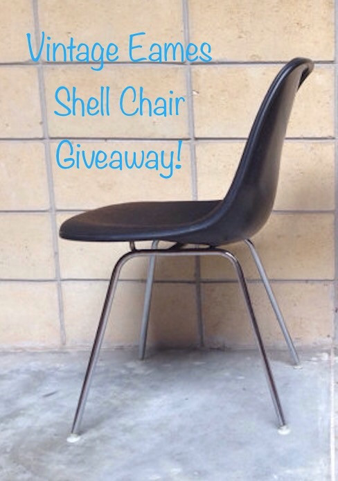 Eames shell chair, vintage shell chair, Eames molded fiberglass chair