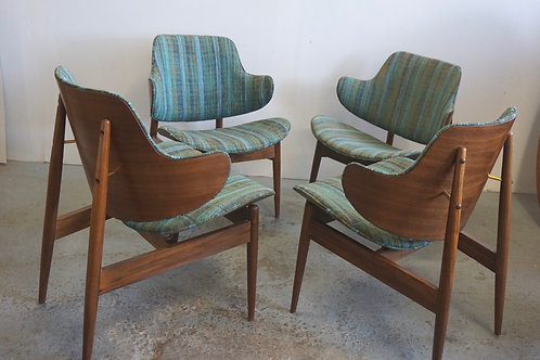 Set of 4 Kodawood arm chairs