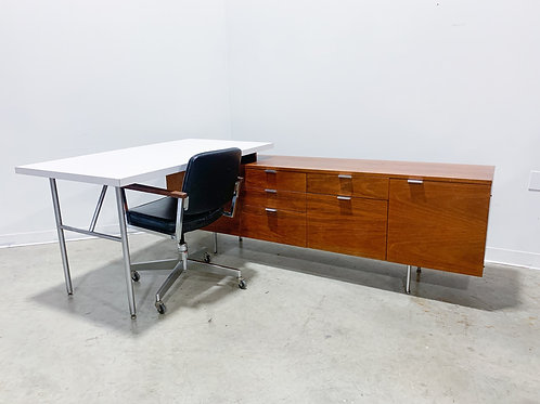 Early 60s george Nelson Herman Miller desk and credenza