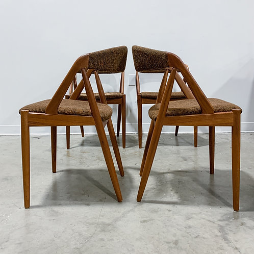 4 Kai Kristiansen Model 31 Teak dining chairs