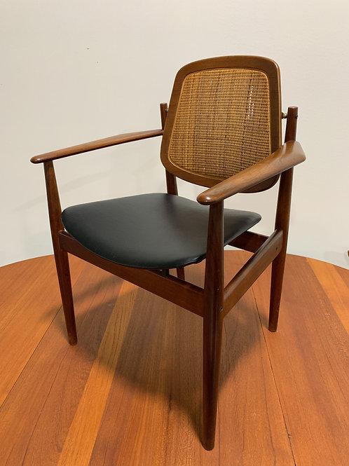 Arne Vodder Cane back arm chair
