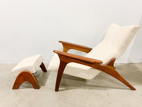 Rare Adrian Pearsall Lounge chair and Ottoman