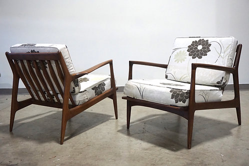 Pair of Kofod Larsen lounge chairs by Selig