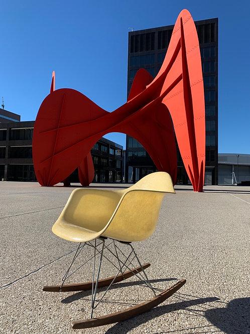 Eames Zenith RAR Rocking chair with rope edge