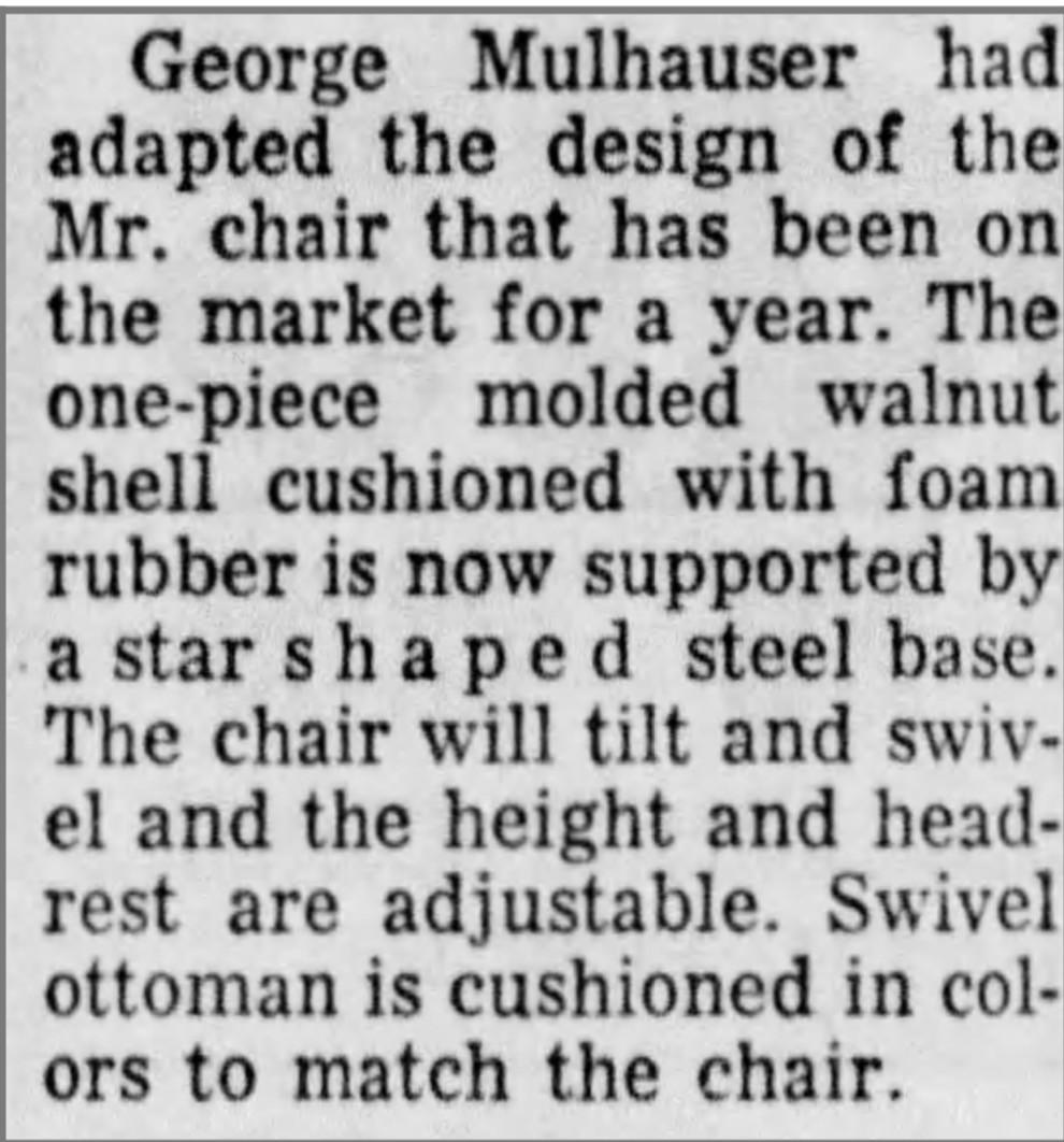 Mr. Chair vintage ad