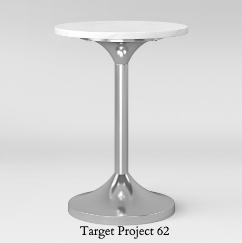 Target table Toulon Marble Top Pedestal