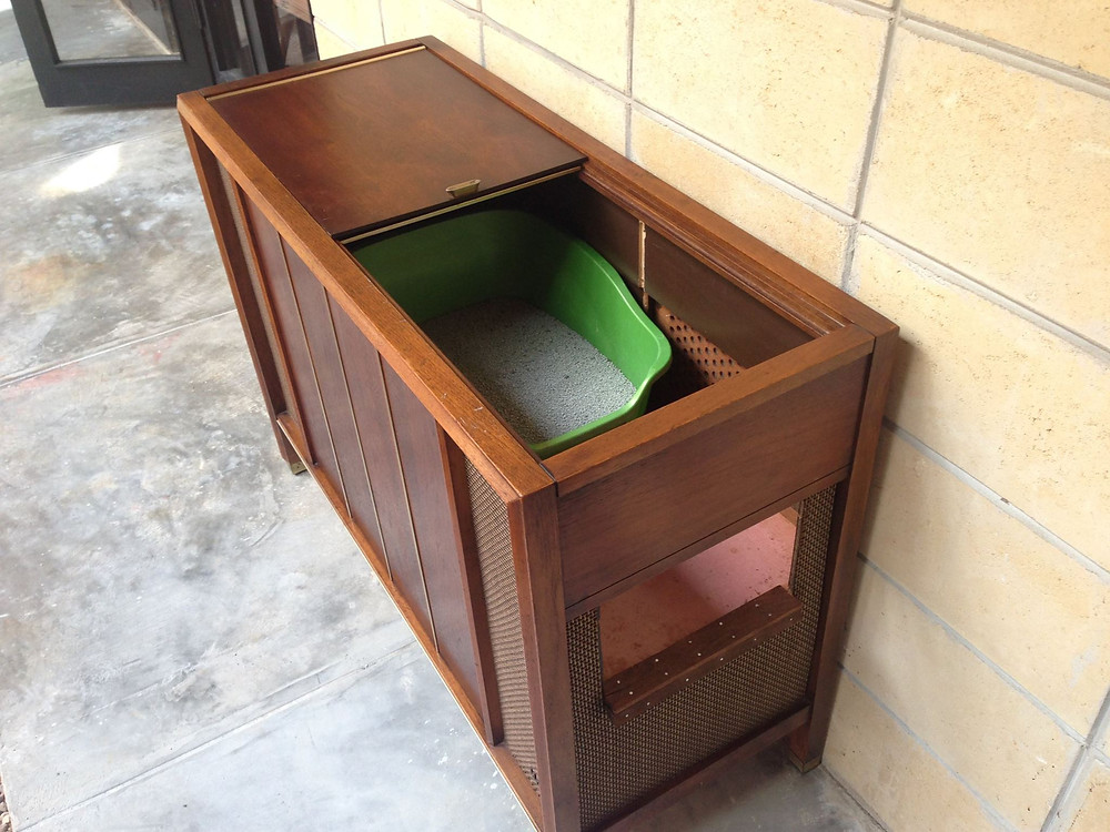 mid century modern cat litter box