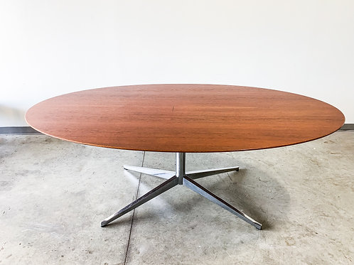 Florence Knoll Teak Top Dining Table