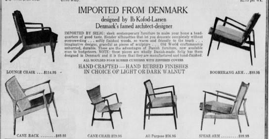 Danish chairs Kofod Larsen