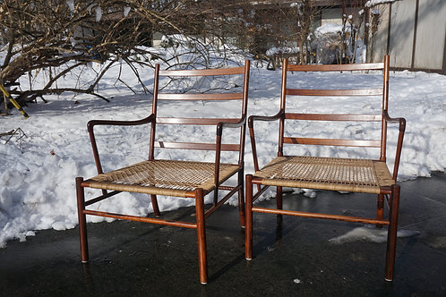 Pair Ole Wanscher Colonial Chairs