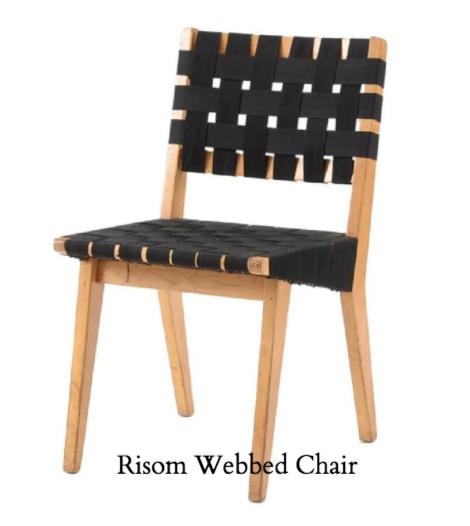 Jens Risom Webbed Chair Design