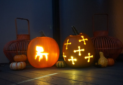 How to Make Mid-Century Modern Jack O' Lanterns