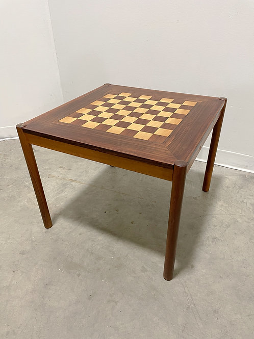 Danish Chess Table in Rosewood