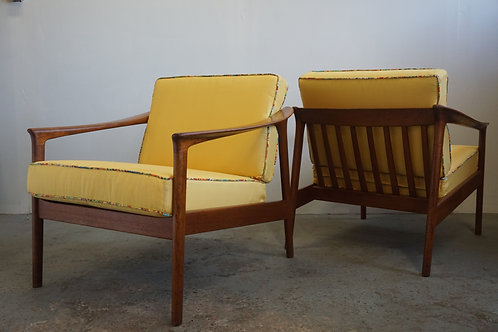 Pair Teak Folke Ohlsson Lounge Chairs