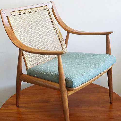 Peter Hvidt cane back lounge chair