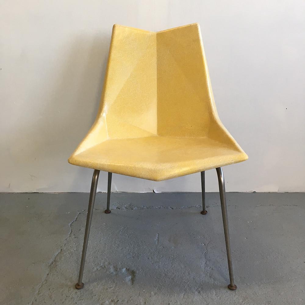 Paul McCobb yellow origami chair
