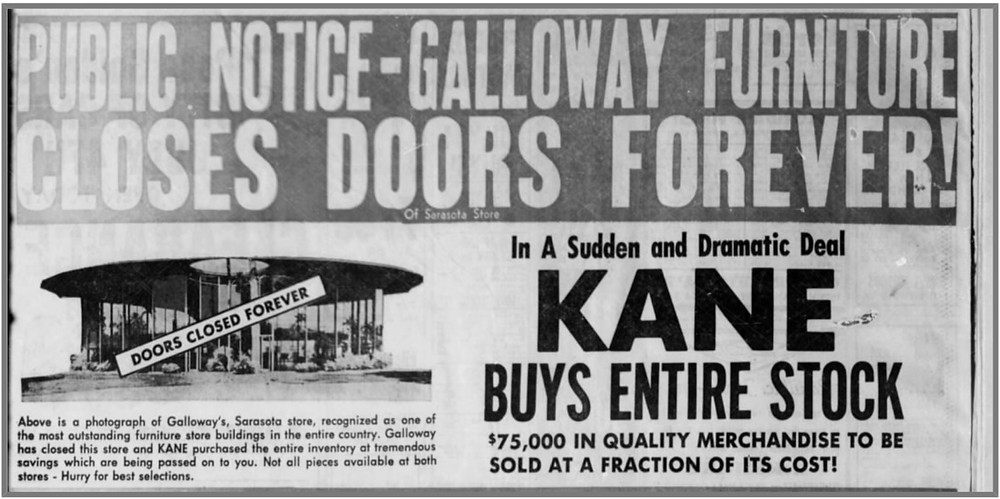 Kane and Galloway's Furniture Showroom