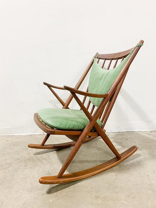 Danish Mid Century Modern Rocking chair by Bramin