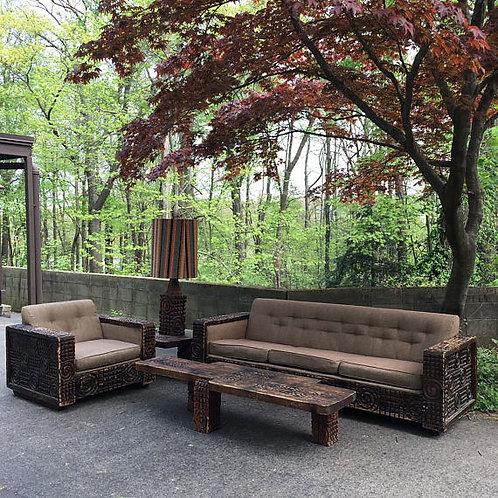 Mid Century Witco Tiki Modern Lounge Set SUPER RARE!