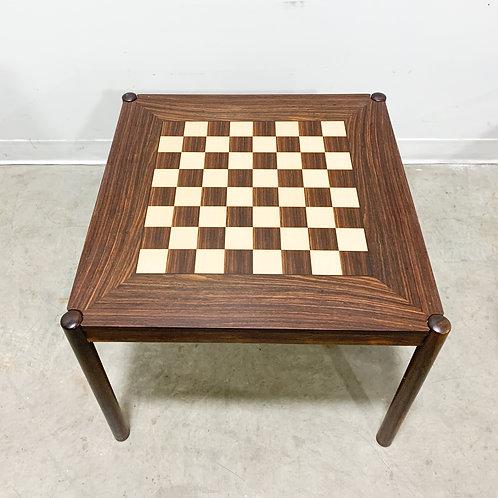 Danish Flip Top Chess Table in Rosewood