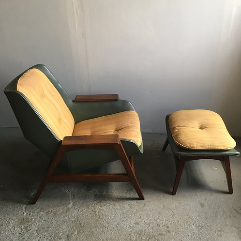 Foster McDavid chair and ottoman